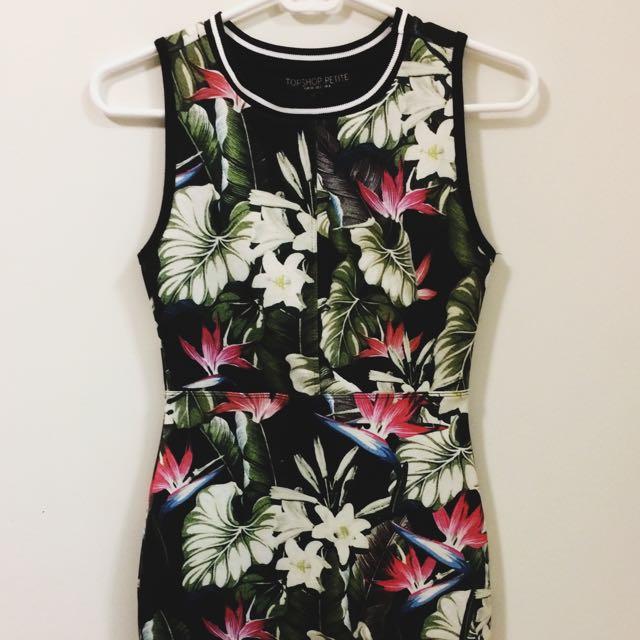 Topshop Skin Tight Short Dress