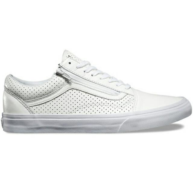 a50564cf84ff Vans Old Skool Zip Shoe - Perf. Leather White, Bulletin Board ...