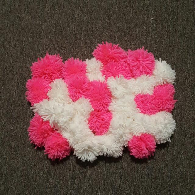 White And Pink Cozy Rug