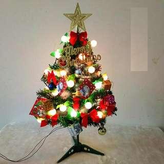 60cm聖誕樹擺設連掛飾20件包郵
