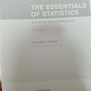 The Essentials of Statistics by Joseph F. Healey