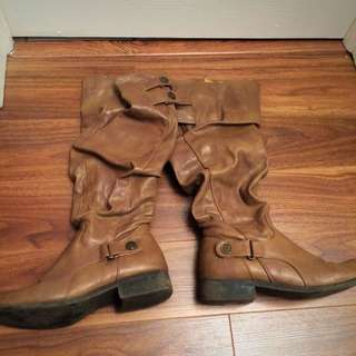 DSW Leather Boots - Size 7.5