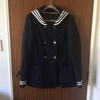 Topshop Sailor Peacoat