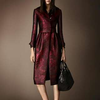 Brand New Silk Burberry Prorsum Coat Sz 4 With Tags Still On