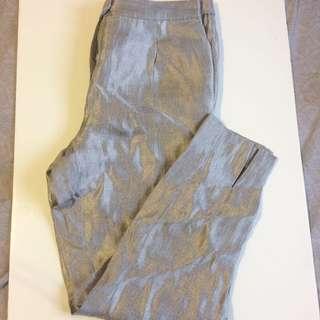H&M Silver Metallic Pants Brand New