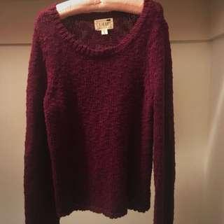 Pacsun Burgundy Knit Sweater