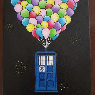 Doctor Who + Disney's UP Painting.