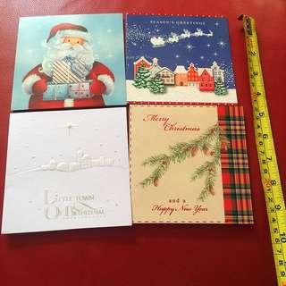 Xmas csrds (with envelopes) 8pcs/set