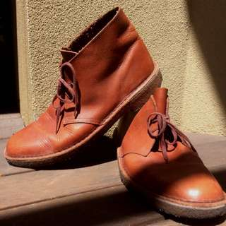 Genuine Leather Brown Desert Boots