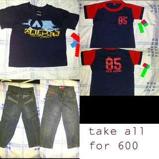 authentic sale pants with 2 shirts