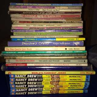 ALL THESE PRELOVED BOOKS *except Nancy Drew*