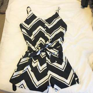 Black & White Playsuit