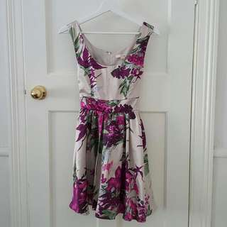 Purple/Grey Floral Dress