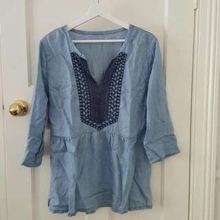Light Blue Blouse