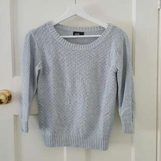 Light Blue Dotti Knit Sweater