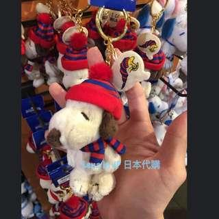 環球影城 聖誕限定snoopy毛帽吊飾