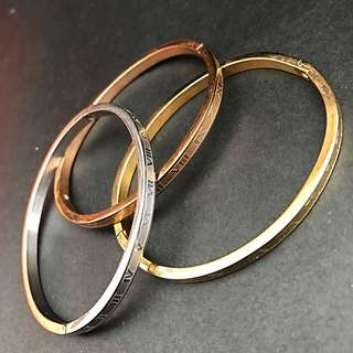 TRI COLOR STAINLESS BANGLE