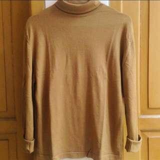 brown sweater turtleneck