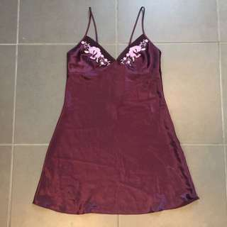 Vintage Purple Silk Dress