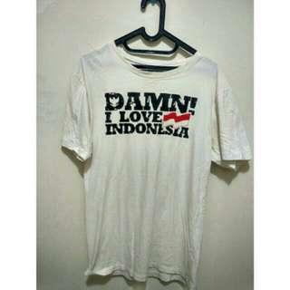 KAOS DAMN I LOVE INDONESIA - ORIGINAL BUKAN SABLONAN