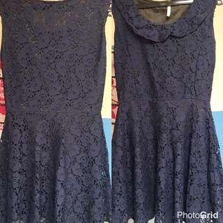 lace dress blue navy