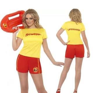 Ladies Baywatch Costume Size M