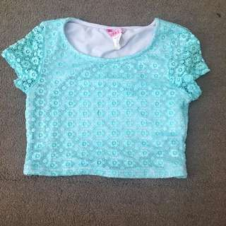 Supre Blue Crop Top