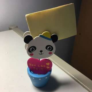 Cute Panda Memo Holder With Pencil