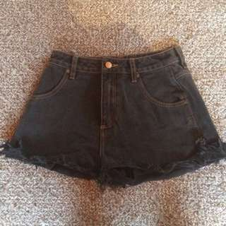Wrangler Denim Shorts High Waisted