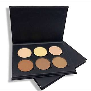 Contour Pressed Powder Kits In Light To Medium And Medium To Tan, 6 Shades Each Kit