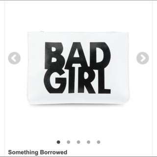 Bad Girl Clutch In White