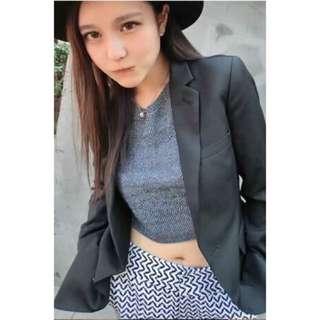 Grace Chow周揚青重磅smoky小西裝外套-黑