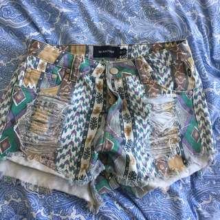 MINKPINK denim shorts XS