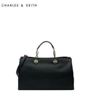 Charles and Keith Black Chain Bag