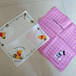 🚚 迪士尼米奇【剩兩條】 /維尼小熊【完售】🍄方巾/口水巾/手帕/裝飾巾