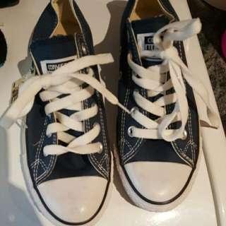Blue converse shoes