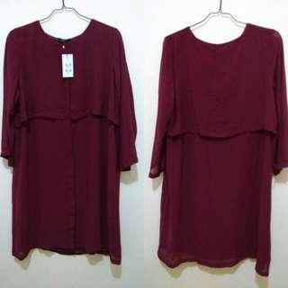 Baju Atasan / Dress EPRISE maroon