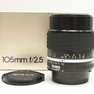 Nikon 105mm f2.5 Ai-S Manual Focus Lens