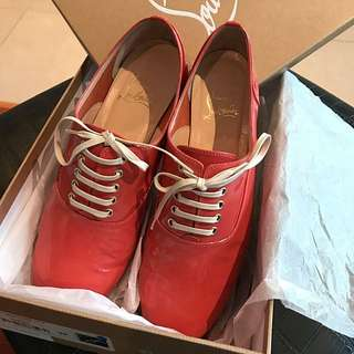 Authentic Pre-owned Size:39 Christian Louboutin FRED Patent Calf Leather Flat