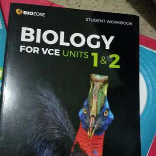 Biology Unit 1 and 2. Current edition for study design 2016 - 2021  Biozone
