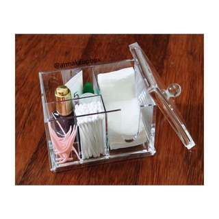 Acrylic cotton organizer