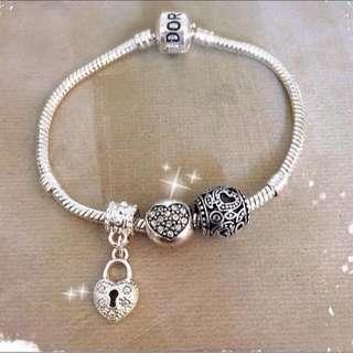 Pandora Inspired Gelang Charm Bracelet