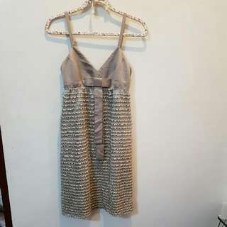 ZUCOZZ gray&gold dress