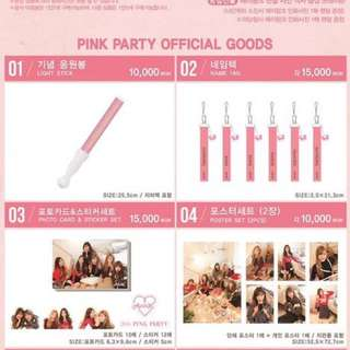 [❌❌❌] Apink Pink Party Concert Goods