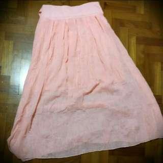 BN Korea Pink Skirt Plus Size