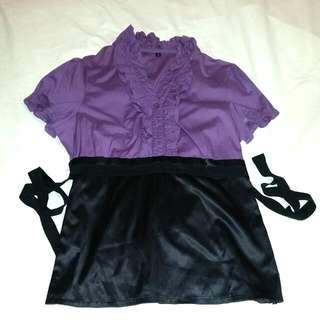 Ruffled Purple Top