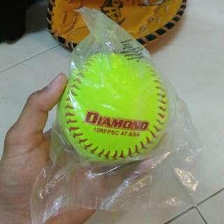 Diamond Flyer Fastpitch Softball Leather Ball