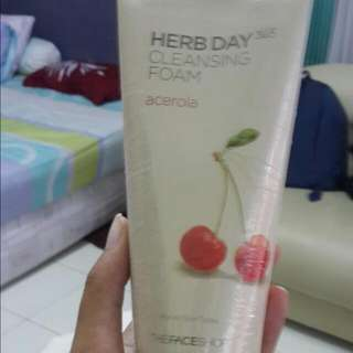 Herb Day The Face Shop Cleansing Foam Acerola