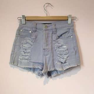 Minkpink Lilac High Waisted Shorts