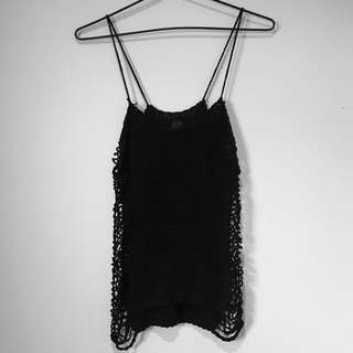 Lee Black Knitted Tank